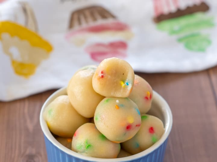 Sugar Cookie Dough Protein Bites - Low Carb, Keto