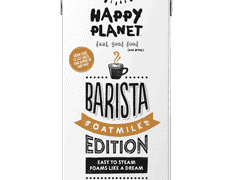 #1 Oatmilk for plant-based lattes Happy Planet Barista Edition